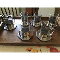 Комплект ЦЕПТЕР из 6 стаканов в подставках