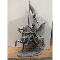 Солдатик оловянный(военно-историческая миниатюра) конный крылатый гусар Речи Посполитой