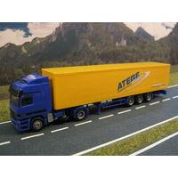 Модель грузового автомобиля Mercedes-Benz Actros (9). Масштаб HO-1:87.