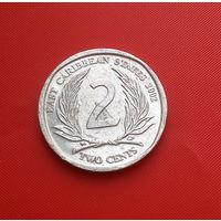 27-29 Восточные Карибы, 2 цента 2002 г. Единственное предложение монеты данного года на АУ