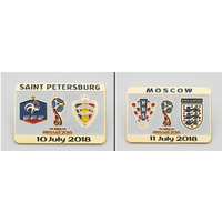 Футбол - Значки из набора ЧМ 2018 все матчи 1/2 финала