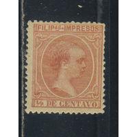 Испания Колонии Филиппины 1894 Альфонс XIII Стандарт #155*