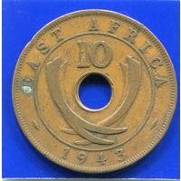 Британская Восточная Африка 10 центов 1943