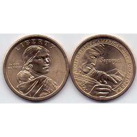 США, 1 доллар 2017 года, D.  Коренные американцы. Секвойя.
