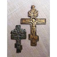 Крест медный 19 век И крест латунь 18 век. с Нижегородской области.