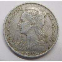 Мадагаскар 5 франков 1953 г