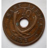 Британская Восточная Африка 10 центов, 1952  2-3-25