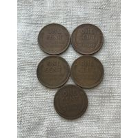США 1 цент 1944-1950 г, не погодовка