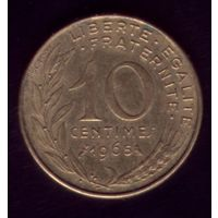 10 сантимов 1965 год Франция