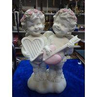 Два ангелка-купидончика, 19 см.