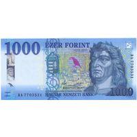 Венгрия, 1000 форинтов 2018 года.