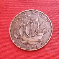 31-38 Великобритания, 1/2 пенни 1950 г.