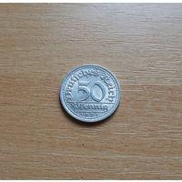 Германия, 50 пфеннигов 1921 г., буквенный знак J, алюминий