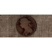 Великобритания 1 пенни 1889 /(ОI)