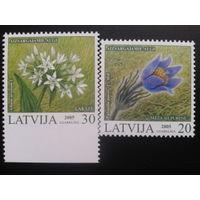 Латвия 2005 цветы полная серия