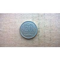 Польша 20 грошей, 1998г. (D-16)