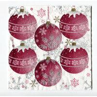 Салфетка для декупажа. Новогоние шарики на елку. 33х33 см