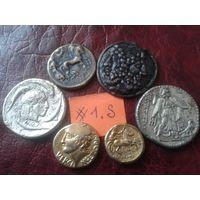 Недорого! Лот коллекционных жетонов- Античные монеты! (лот#1.S)+ Бонус! Сегодня новые аукционы!!