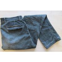 Итальянские прямые штаны брюки MCS Italia, темнозеленого бутылочного цвета