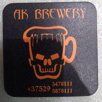 """Подставку под пиво пивоварни  """" AK-Brewery """"."""
