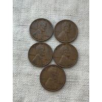 США 1 цент 1934-1942 г., не погодовка