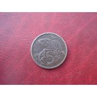 5 центов 1974 год Новая Зеландия