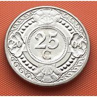 114-16 Антильские острова, 25 центов 2004 г. Единственное предложение монеты данного года на АУ