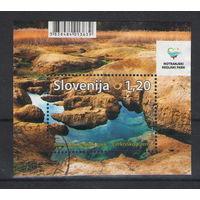 Словения Национальный парк озеро 2017 год гашеный блок
