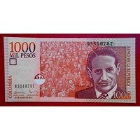 Колумбия, 1000 песо, 2011 года, UNC