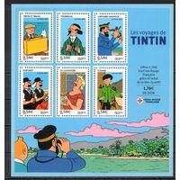Герои мультфильмов Франция  2007 год серия из 6 марок в листе