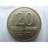 Литва 20 центов 2007 г.