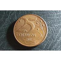 25 сентаво 2002. Бразилия. Отличная!
