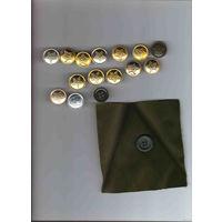 16 больших пуговиц ВС СССР и РБ металлические и пластмассовые разных заводов и годов выпуска