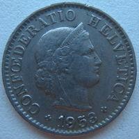 Швейцария 5 раппен 1953 г. (d)