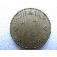 Латвия 10 сантимов 1992 г.