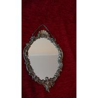 Старинное зеркало Германия,латунь