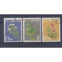 [419] Албания 1962. Флора.Лекарственные растения. Гашеная серия.