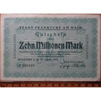 10 миллионов марок 1923г. Франкфурт