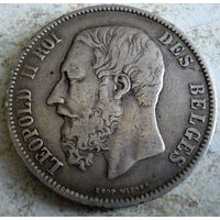 Бельгия. 5 франков 1872 г. Торг.