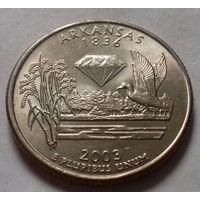 25 центов, квотер США, штат Арканзас, P