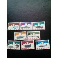 Польша 1963. Военная техника полная серия 8 марок Мих 1553-60