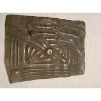 Старинная бронзовая пряжка