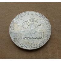 Австрия, 100 шиллингов 1976 г., серебро, Олимпиада в Инсбруке, знак на реверсе - орел