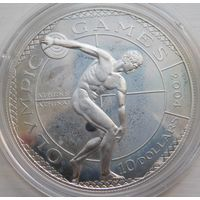 20. Острова Кука 10 долларов 2001 год, серебро