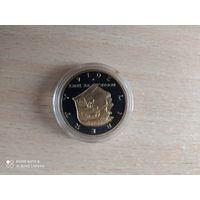 Сувенирная монета Трамп в капсуле.2016