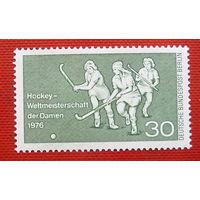 Германия. Западный Берлин. Хоккей на траве. ( 1 марка ) 1976 года.