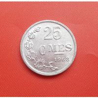68-35 Люксембург, 25 сантимов 1968 г. Единственное предложение монеты данного года на АУ