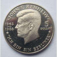 Ниуэ 5 долларов 1988 Джон Кеннеди