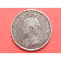 3 пиастра 1901 Кипр КМ# 4 серебро