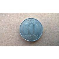 ГДР 10 пфеннигов, 1979г.